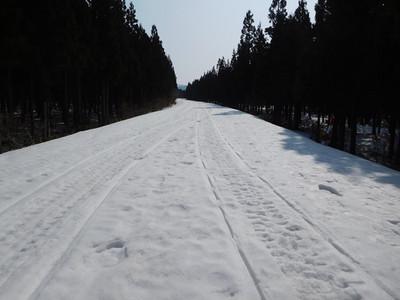 残雪の中島台