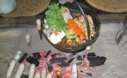 きりたんぽ作り体験(天鷺村)